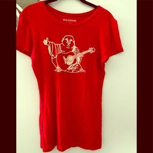 True religion red t shirt size medium